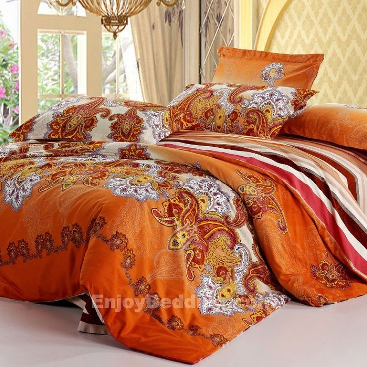 Orange Paisley Bedding Sets Enjoybedding Com Apartment