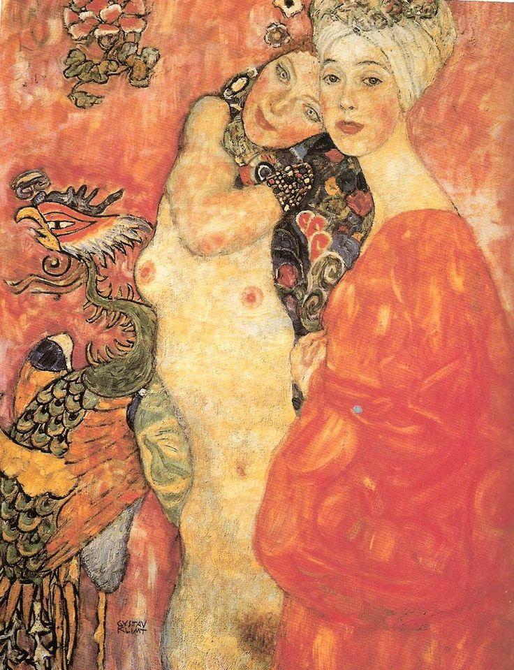 Detail of Klimt's 'Girl-Friends'The Women, Women Friends, Warm Colors, Colors Tone, Modern Art, Art Nouveau, Gustav Klimt, Desktop Wallpapers, Gustavklimt