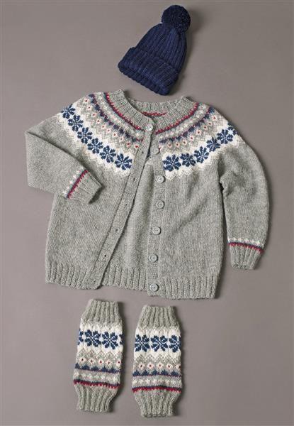 1410: Modell 5 Jakke og leggvarmere #alpakka #strikk #knit
