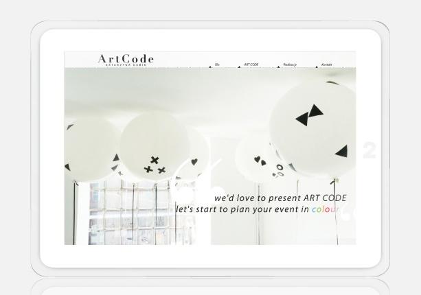 website design for http://artcode.com.pl/