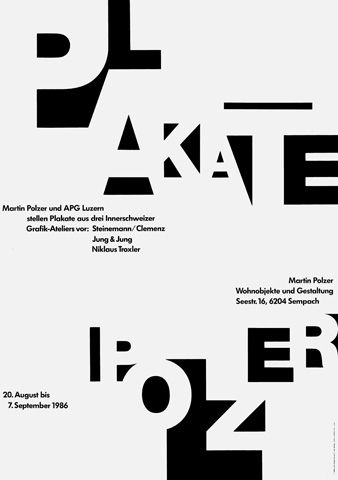 Cool use of Fonts - Negative Space - Niklaus Troxler