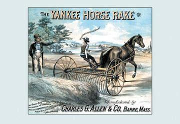 The Yankee Horse Rake 12x18 Giclee on canvas
