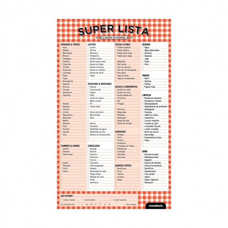 Lista de la compra versión argenta para imprimir... muy buena y a prueba de hombres :D