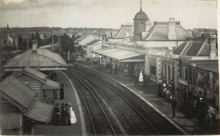 Petersham Railway Station in western Sydney in 1885 •State Archives of NSW•