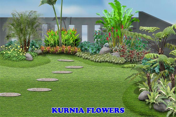 Konsep Taman Type Taman Bali Tropis, Kurnia Flowers Tukang Taman Bandung Cihideung Wisata Bunga Call /WA : 082.120.9892.85