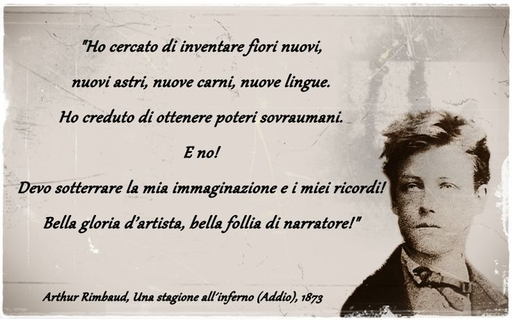 Rimbaud, Una stagione all´inferno