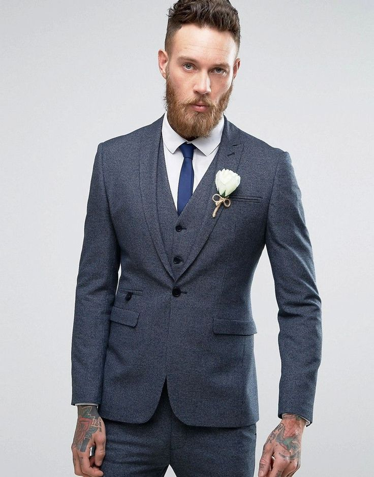Get this Asos's blazer now! Click for more details. Worldwide shipping. ASOS WEDDING Super Skinny Suit Jacket in Navy Dogstooth - Navy: Suit jacket by ASOS, Soft-touch woven fabric, Dogtooth design, Contains stretch for comfort, Fully lined, Peak lapel, Single button opening, Functional pockets, Super skinny - cut closely to the body, Dry clean, 64% Polyester, 32% Viscose, 4% Elastane, Our model wears a 40/102cm and is 191cm/6'3 tall. ASOS menswear shuts down the new season with the latest…
