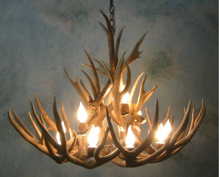 How to Make Deer Antler Chandelier - http://www.elcdonline.org/how-to-make-deer-antler-chandelier/ : #RoomDecor Deer antler chandelier shows your love for hunting and gives a room character. It's also a great way to express creativity. Male deer shed their antlers each year, and because the horns are hollow, they make a great material to create a custom chandelier lamp. You want to collect or buy...
