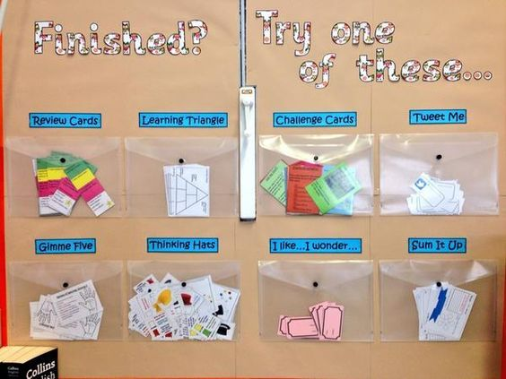 Finished? Try one of these... - Printables for a classroom display idea providing extension tasks and review activities.: