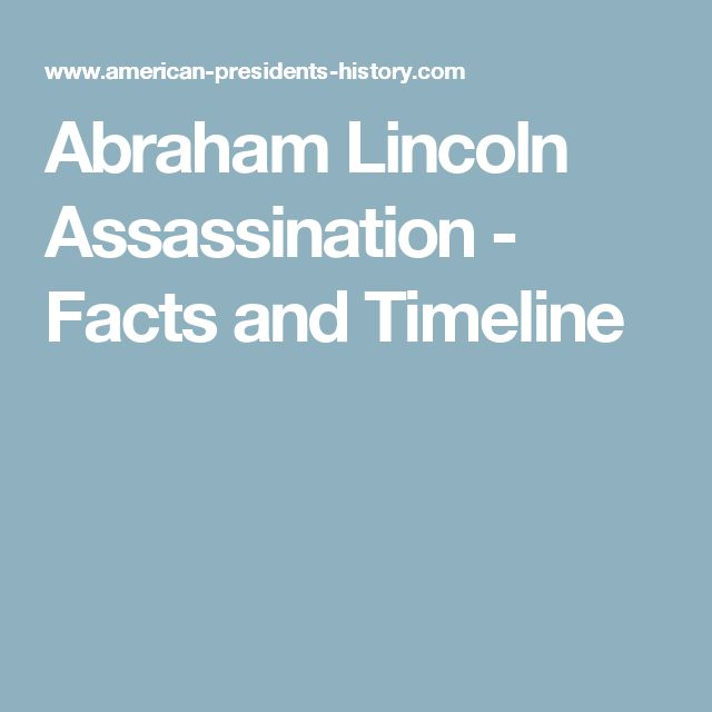Abraham Lincoln Assassination - Facts and Timeline