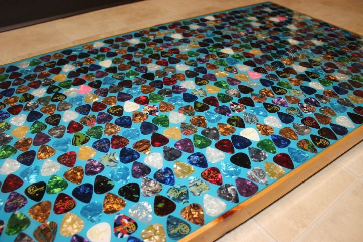 Diy Guitar Pick Table Top Click Photo To View