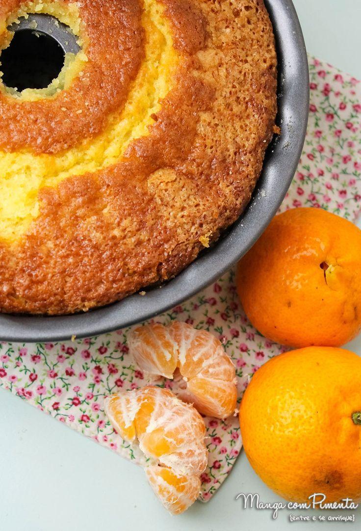 Bolo de Mexerica, Tangerina, Bergamota, Ponkan, Clementina... não importa qual o nome, o importante é você fazer esse bolo. Receita no Manga com Pimenta.