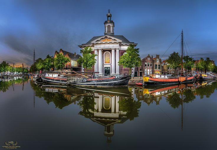 Mesmerizing at the Church - One of the beautiful canals of Schiedam, a city near Rotterdam.......
