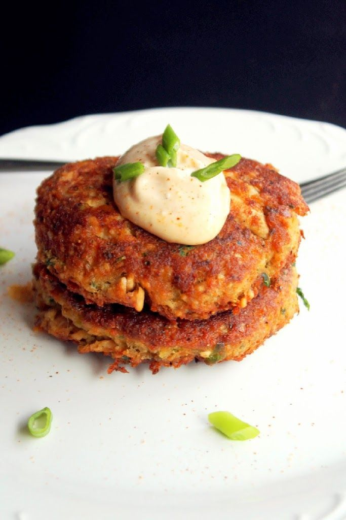 Creole Salmon Cakes with Hot Mayonnaise (my modification for cakes: add a bit of poultry seasoning, 1 egg, 1-2 tbsp of mayo instead of whole cup)
