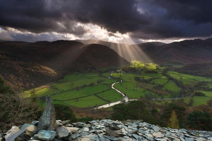 The Lake District is a hauntingly beautiful corner of our planet and easily the most scenic place in England. The landscape is simply spellbinding: shadowy ridges gilded with golden light, shimmering meadows ablaze with wild flowers, and sparkling blue lakes that reflect the whole glorious scene.