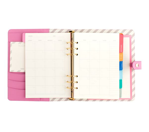 Love organising your days with this cute Leather Planner in textured pink leather. Enjoy the freedom organisation brings with its unique features, such as a perpetual calendar, notes pages, To Do List and more.