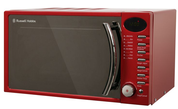 Russell hobbs rhm1714r microwave in red red microwave ovens pinterest red and microwaves - Red over the range microwave ...
