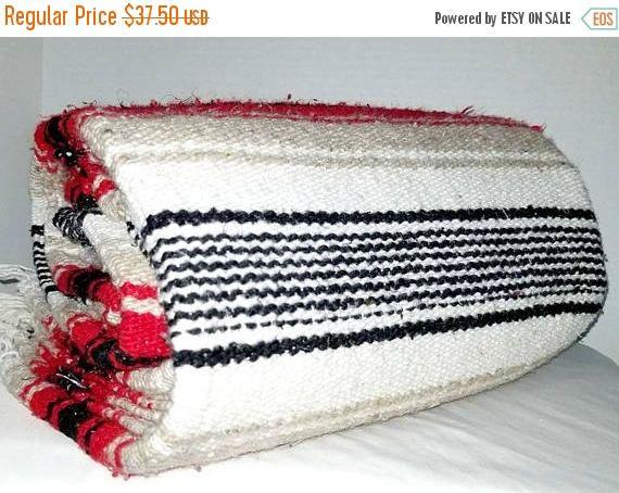 Mexican Serape,Red,Pendelton Style,Saltillo,Mexican Blanket,Fringe,Southwestern Blanket,Falsa,Mexican Throw,Mexican Blanket,Mexico,1970s by JunkYardBlonde on Etsy