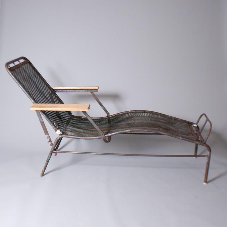 chaise longue sanatorium martel de janville jean prouv jules leleu 1934 produced by. Black Bedroom Furniture Sets. Home Design Ideas