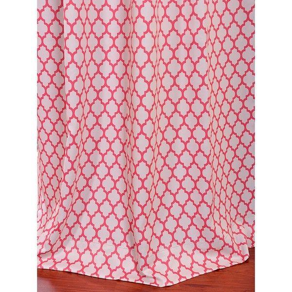 Casablanca Rose Rod Pocket Blackout Curtain Panel