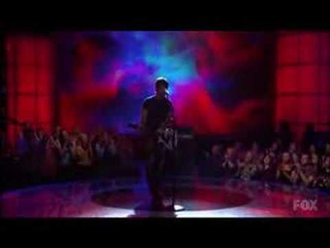 """By far my favorite singing competition moment. America Idol winner, David Cook, blows everyone away with Lionel Richie's pop song """"Hello"""""""