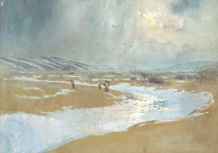 Landscape in winter [...] by Ladislav Mednyánszky, 1879. Slovak national gallery, CC BY