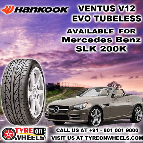 Buy Mercedes Benz SLK Car Tyres Online of Hankook Ventus V12 EVO Tubeless Tyres and get fitted with Mobile tyre fitting Vans at your doorstep at Guaranteed Low Prices buy now at http://www.tyreonwheels.com/tyres/Hankook/VENTUS-V12/930