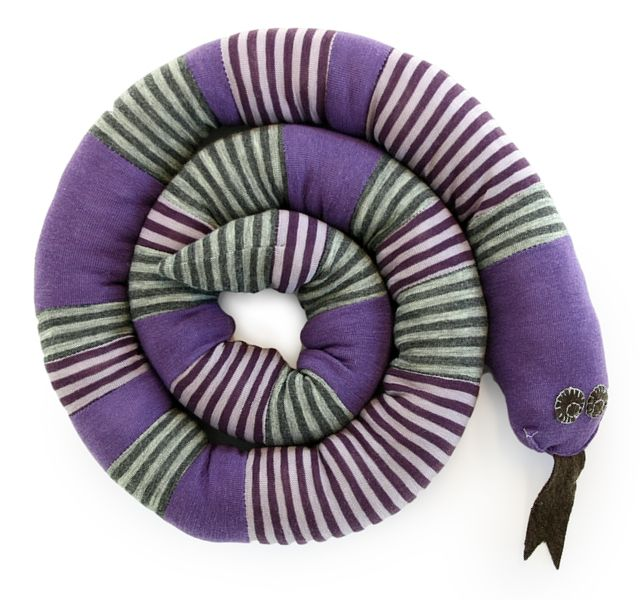 Snake made from wornout clothes