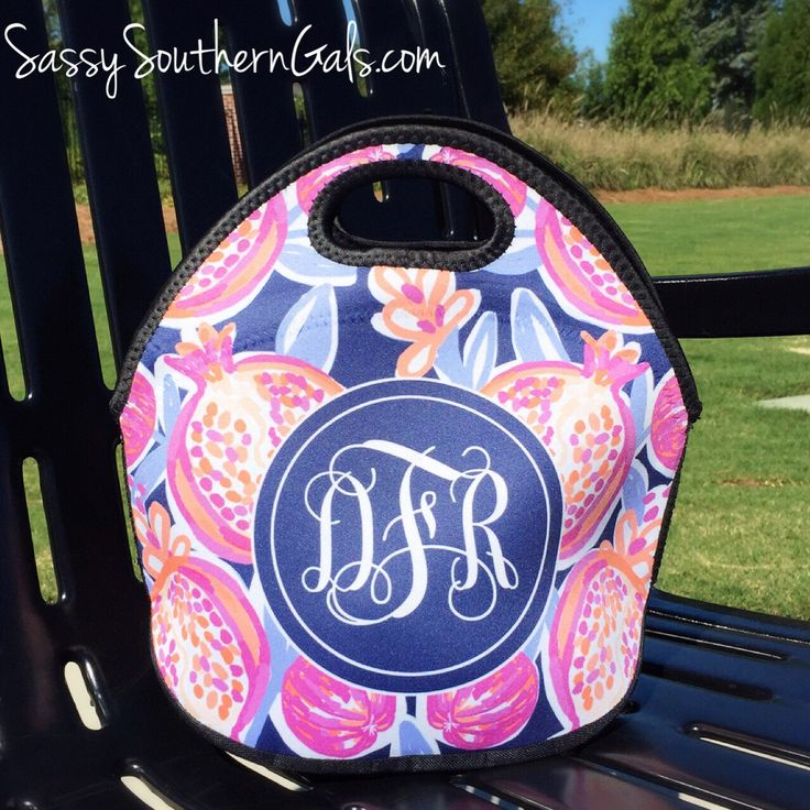 Lilly Pulitzer Inspired Lunch Box | Monogram Lunch Bag | Gift For Her by SassySouthernGals on Etsy https://www.etsy.com/listing/252124346/lilly-pulitzer-inspired-lunch-box