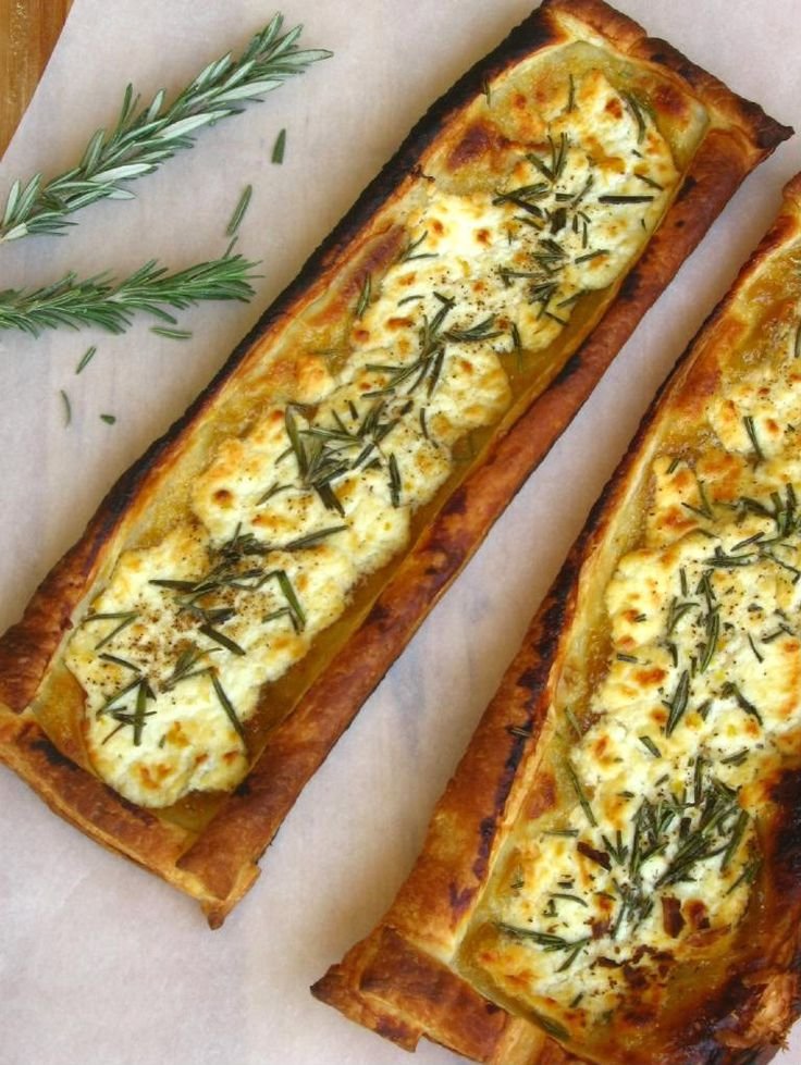 rosemary, fig and goat cheese tart.