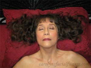 Learning to sleep on your back | Facial Exercises by Carolyn's Facial Fitness™ LLC