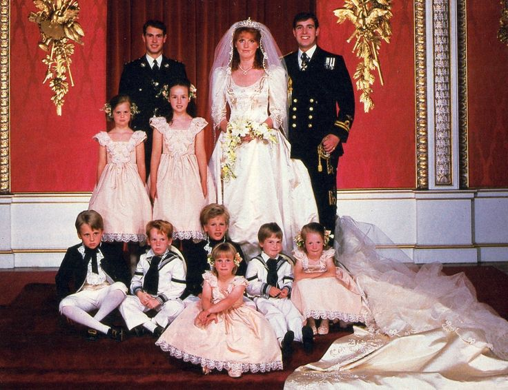Prince Andrew, Duke of York and Sarah Ferguson married 23 July 1986 at Westminster Abbey