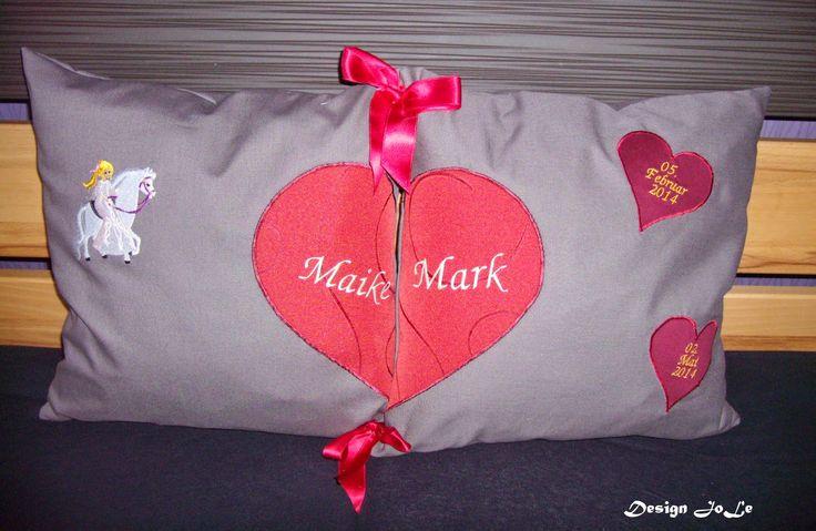 Design JoLe: Kissen zur Hochzeit