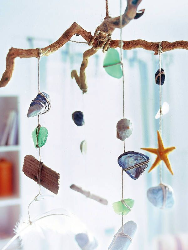 A beach themed mobile. I can make one with a different theme for my kids!