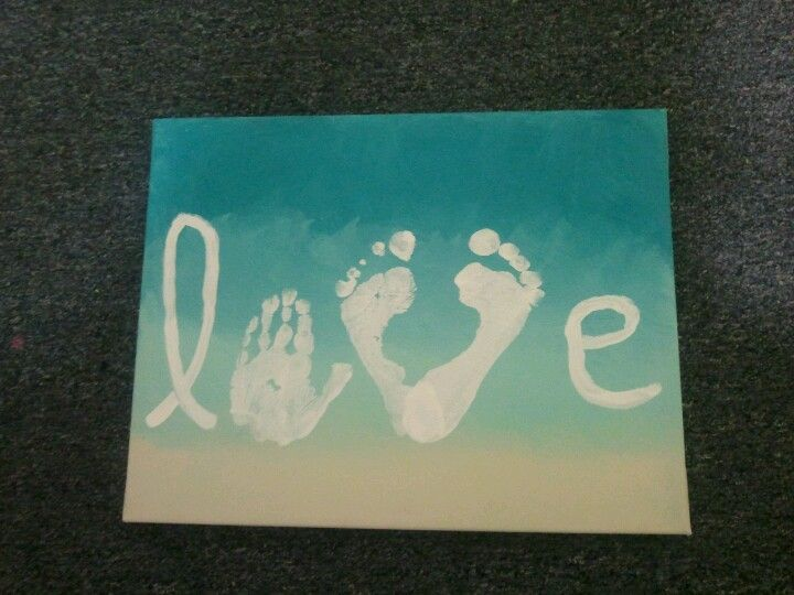 Love made with handprints & feet. Would be awesome to find a way to include daddy and mommy's prints with the kiddos :)