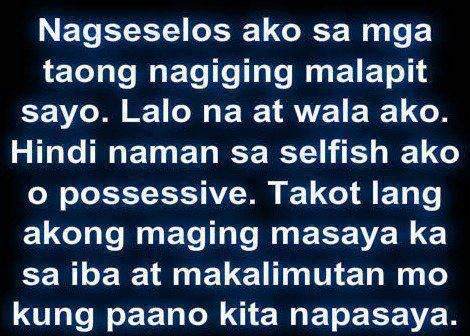 Selos Quotes | Tagalog Love Quotes Collection | Pick up lines | Sad Quotes - Part 2