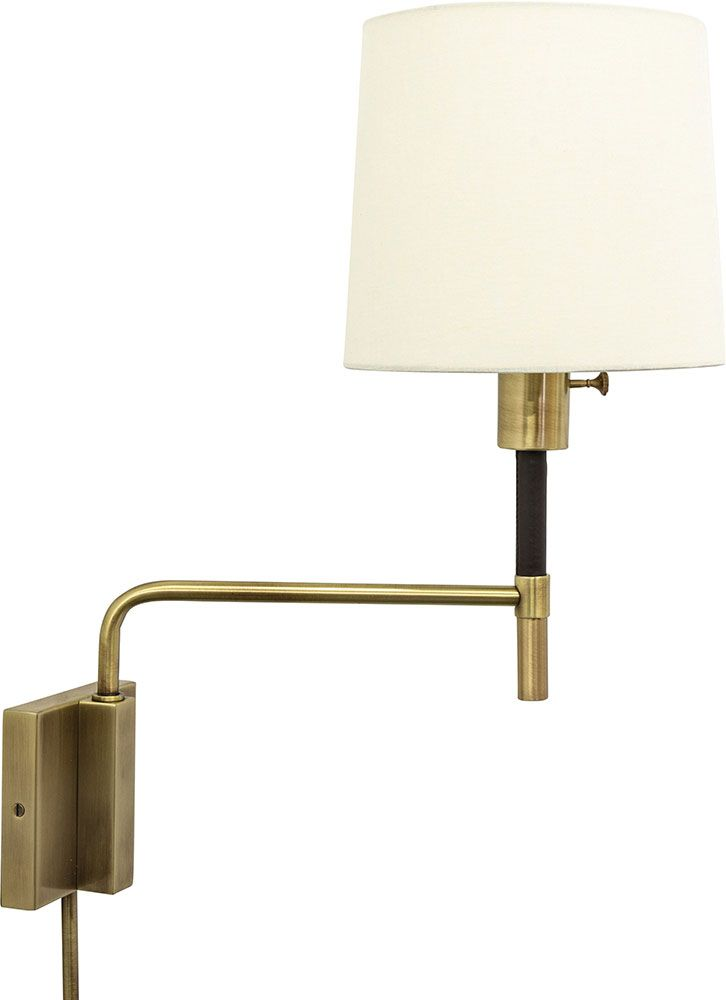 House Of Troy Hu975 Ab Huntington Antique Brass Wall Swing Arm Lamp Hot Hu975 Ab With Images Swing Arm Lamp House Of Troy