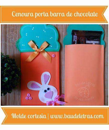 moldes Zanahoria porta barra de chocolate http://goma-eva.com/zanahoria-porta-barra-de-chocolate/ #manualidades #pascuas #gomaeva
