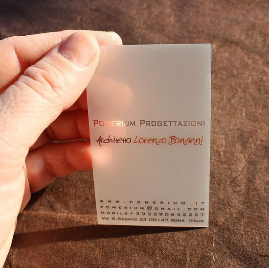 20+ Examples of Stunning and Transparent Business Card Design