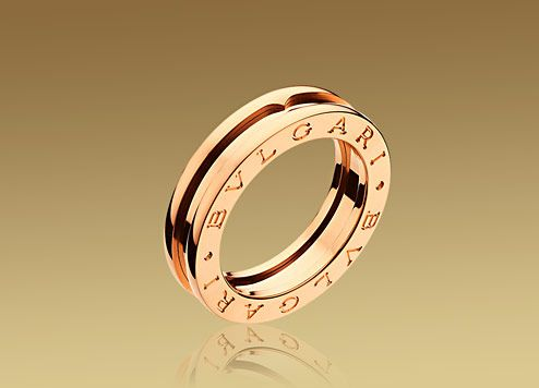 bulgari bzero1 ring in 18kt pink gold an852422