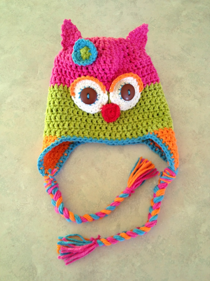 owl crochet hat girl |...