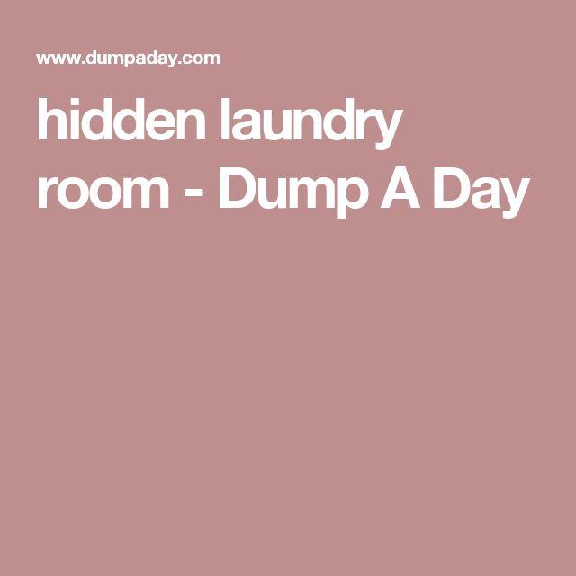 hidden laundry room - Dump A Day