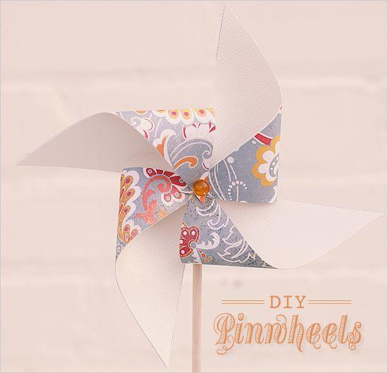 DIY Wedding Pinwheels