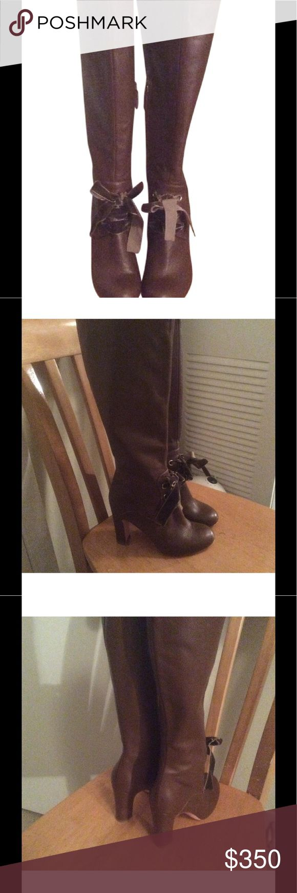 Valentino Red Brown Leather Boots 6 In great condition worn a couple of times, enjoy. No box dust bag, just the boots RED Valentino Shoes Winter & Rain Boots