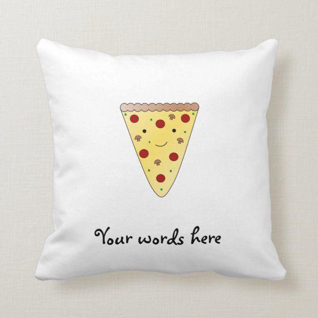 Cute Pizza Throw Pillow Zazzle Com Cute Pizza Throw Pillows Pizza Pillow