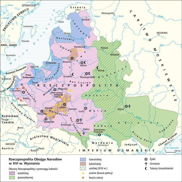 Rzeczpospolita Obojga Narodów w XVI w. Wyznania