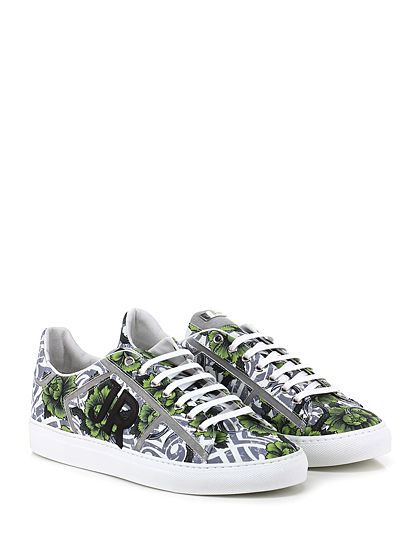 JOHN RICHMOND - Sneakers - Uomo - Sneaker in pelle stampata a fantasia con suola in gomma, tacco 30. - FLOWER\MULTI - € 270.00