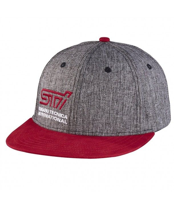 47fba5358 Genuine STI Flat Bill Heather Black Cap Hat Impreza WRX Racing STI ...