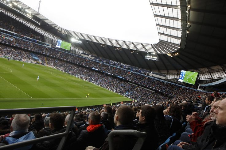 Inside the Etihad Stadium, home to Manchester City Football Club. Policing major football games can be a regular feature of an officer's work. www.gmp.police.uk