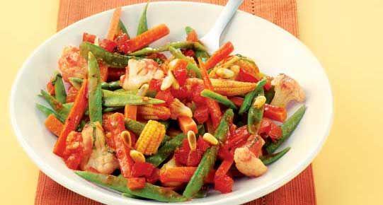 Groentesalade met tomatendressing | Diabetes Fonds